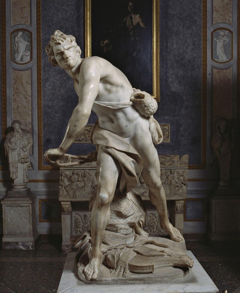 Il David di Michelangelo non è l'unico David scolpito, c'è anche ilDavid di Bernini