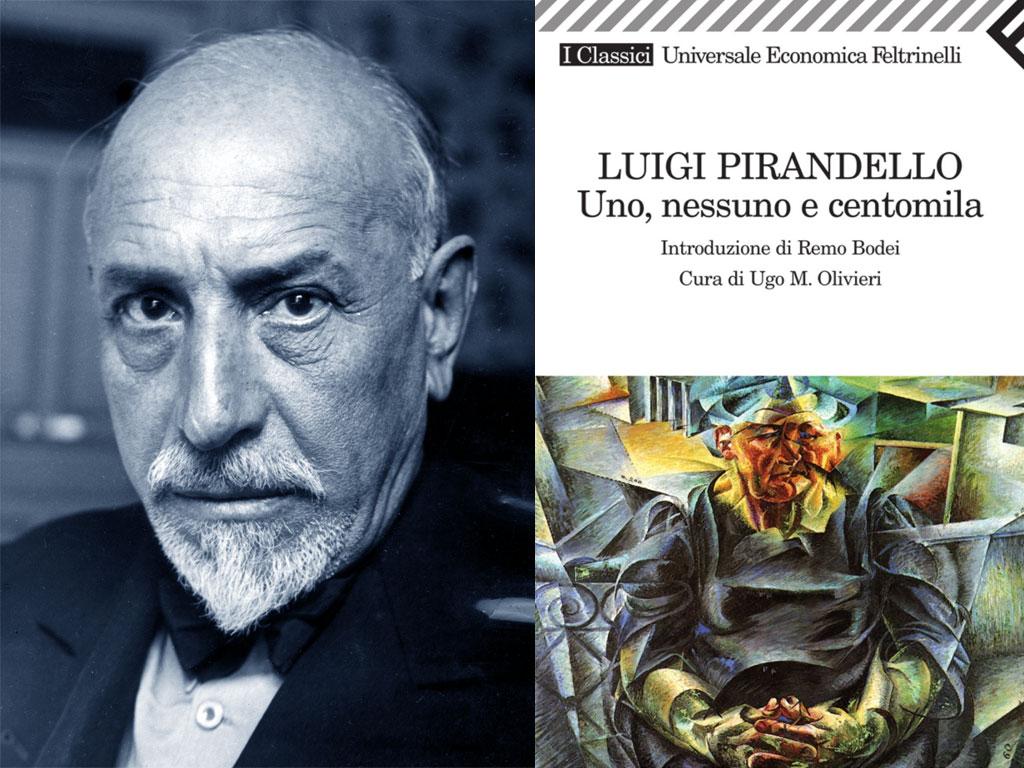 """Uno, nessuno e centomila - L'uomo in conflitto con se stesso - Copertina di """"Uno, nessuno e centomila"""" di Luigi Pirandello"""