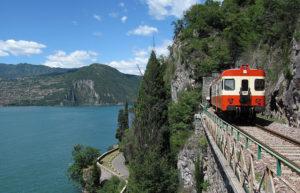 Tratto ferroviario panoramico