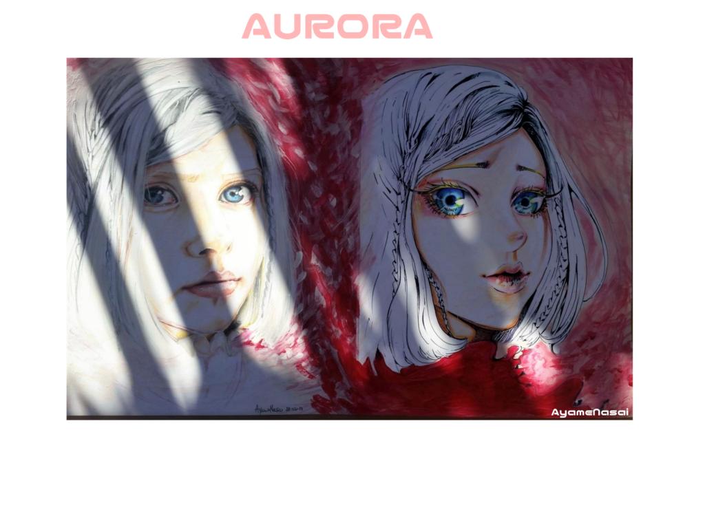 Aurora-ritratto e raggi di sole