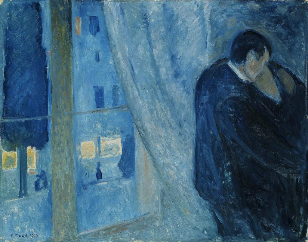 """""""Il bacio con finestra"""" di Edvard Munch"""