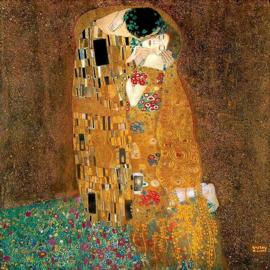 """Il bacio"" di Gustav Klimt."