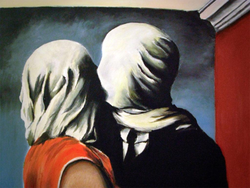 """ALT=""""Gli amanti di René Magritte"""""""