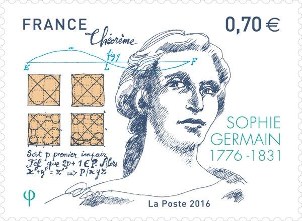 francobollo commemorativo di Sophie Germain