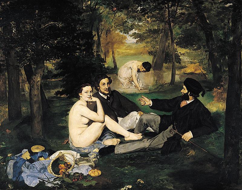 """ALT=""""Impressionismo Manet colazione sull'erba"""