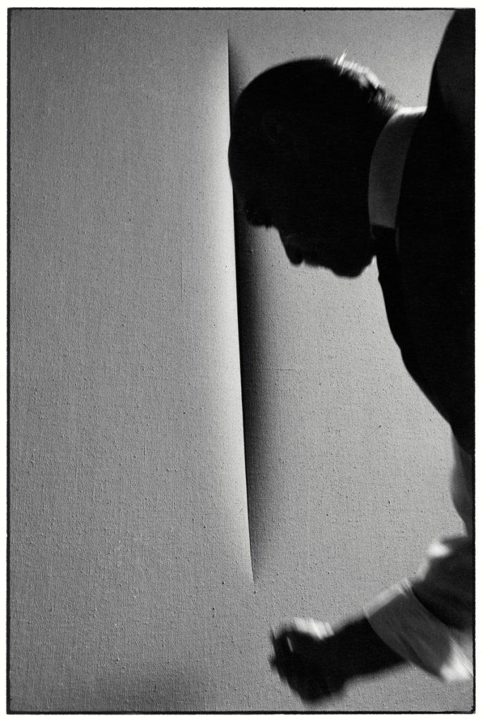 Ugo Mulas, Lucio Fontana, Milano, 1964.