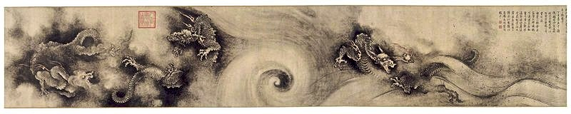 "Pittura cinese - ""I nove Dragoni"" ( 九龍圖卷 ), di Chen Rong"