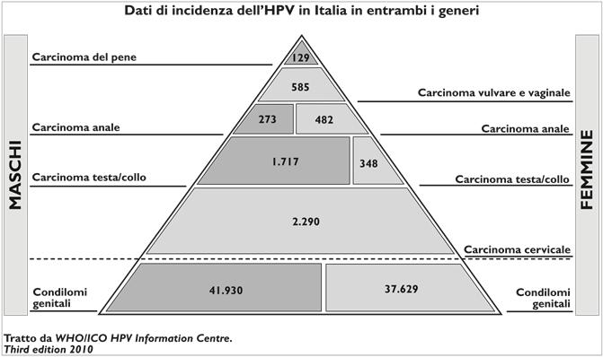 HPV - incidenza tumori da HPV negli uomini e nelle donne