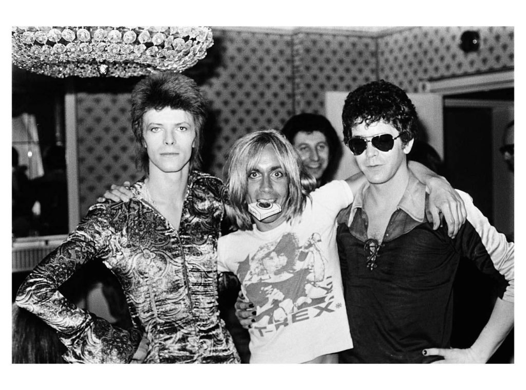 ©Mick Rock,David Bowie, Iggy Pop, Lou Reed, London,1972.