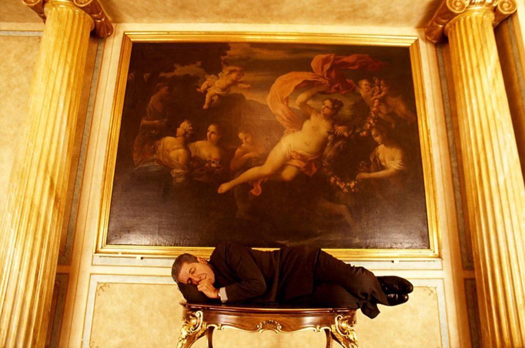 ©Guido Harari, Leonard Cohen, Milano, 1992.