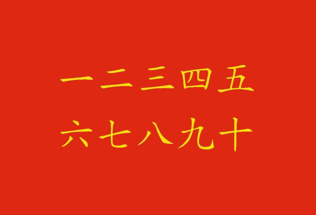 Numeri in cinese: come contarli? - Numeri cinesi