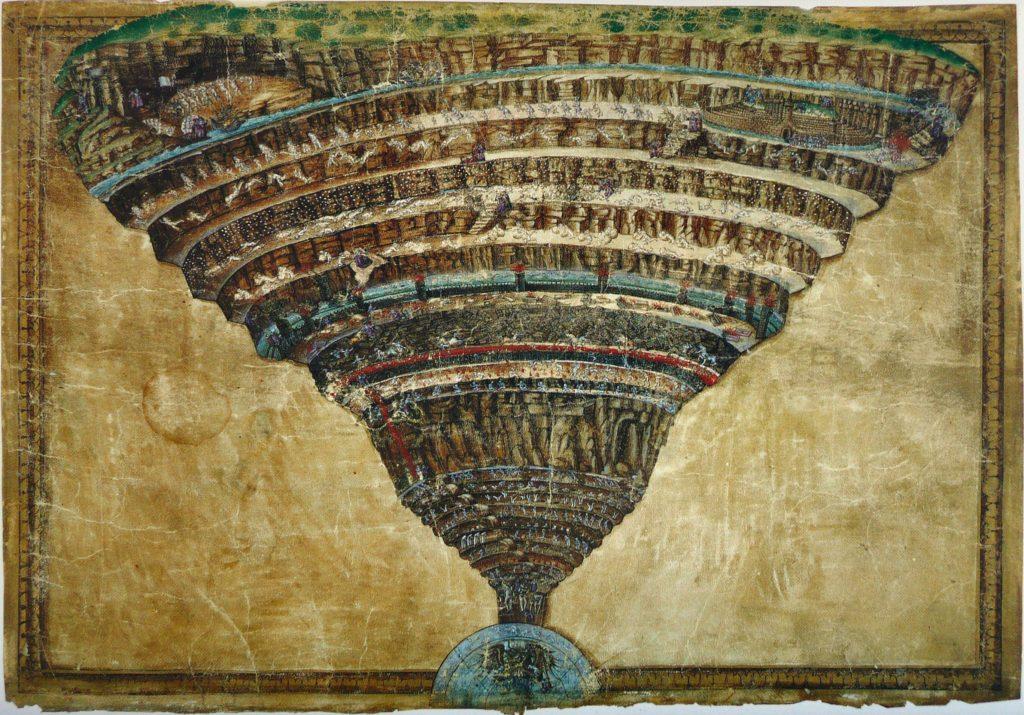 """Arte e letteratura - """"Voragine infernale"""" Botticelli"""