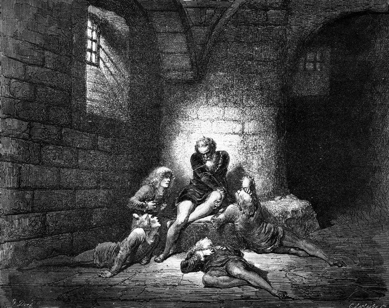scuola - Il Conte Ugolino e i suoi figli, Gustave Doré
