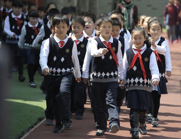 Uniforme nella scuola cinese di Nanjing