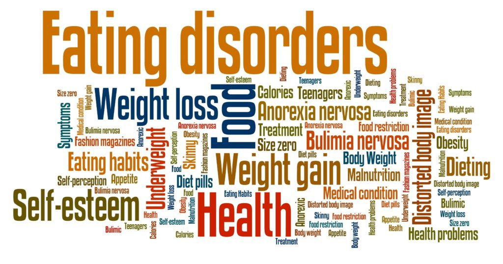 Binge Eating Disorder - locandina con parole