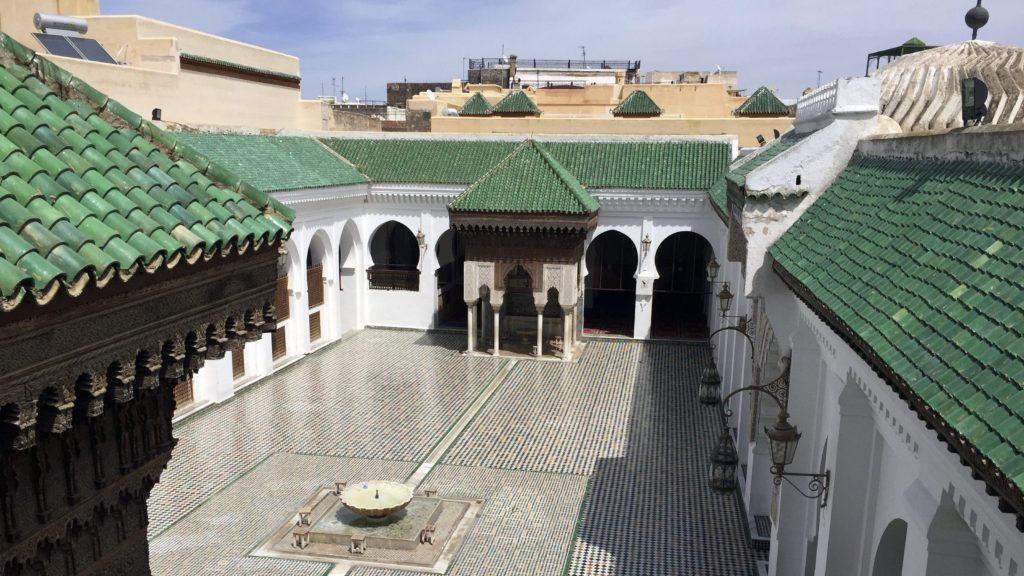 cortile biblioteca al-Qarawiyyin