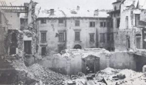 biblioteca capitolare bombardata
