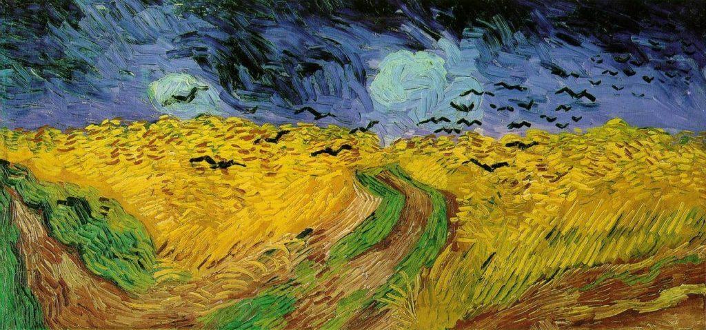"""ALT=""""Van Gogh Campo di grano con volo di corvi"""""""