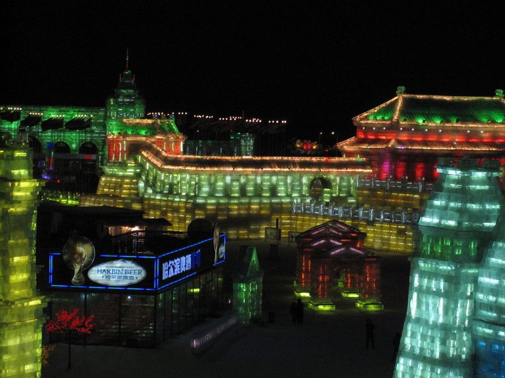 Mondo del ghiaccio e della neve al Festival di Harbin