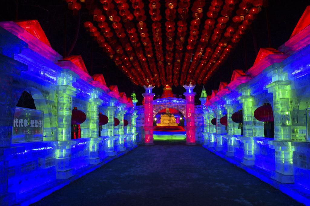 Lanterne di ghiaccio nel festival di Harbin