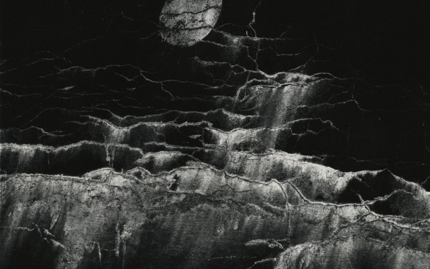 Sciamani - ©Minor White, Moon and Wall Encrustation, Pultneyville, NY, 1964.