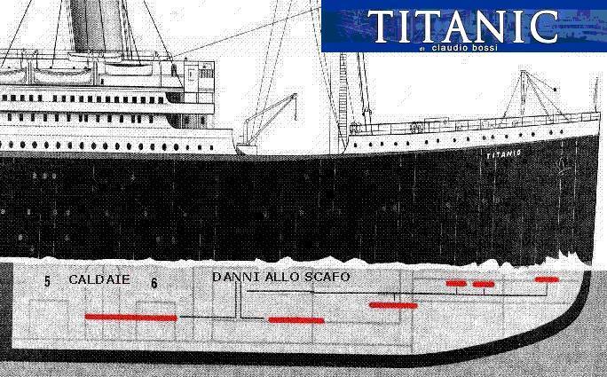 titanic falle
