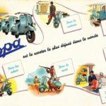 Vespa advertising for France 1949