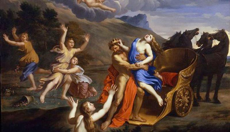 """Persefone o Proserpina, ritratta da Nicolas Mignard nel dipinto """"Il ratto di Proserpina"""""""