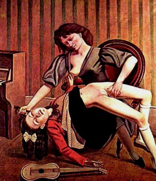 Balthus, La lezione di chitarra, 1934. - icona