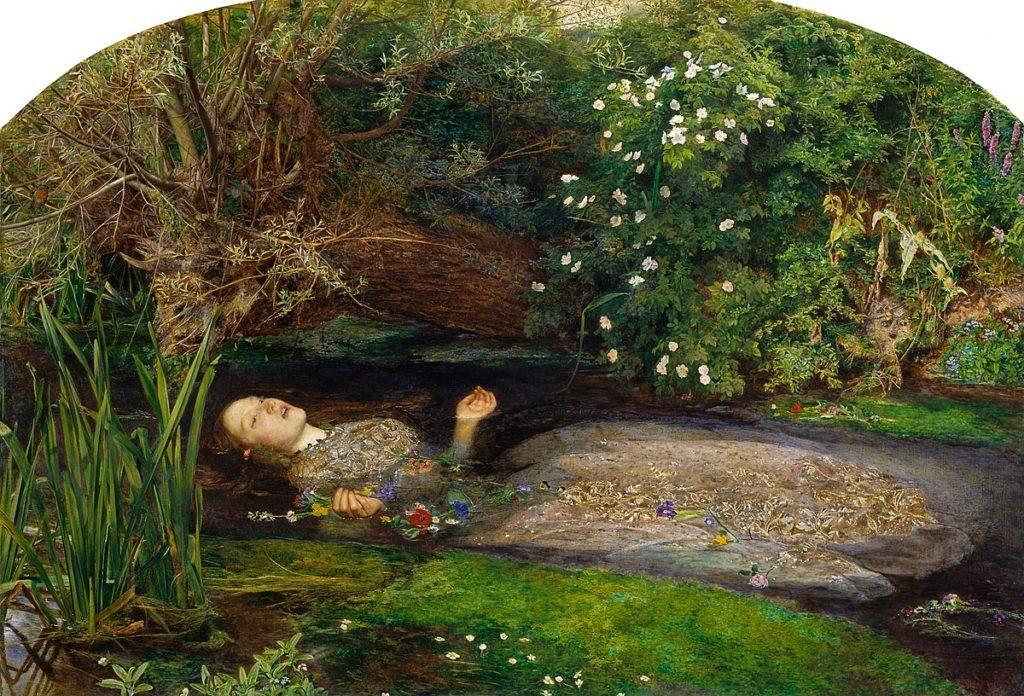 John Everett Millais, Ophelia, 1851-1852. - icona