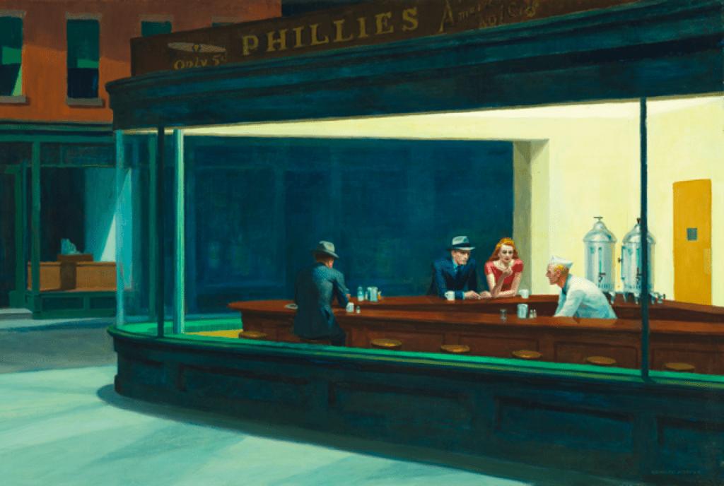 Edward Hopper. Nighthawks, 1942. - icona