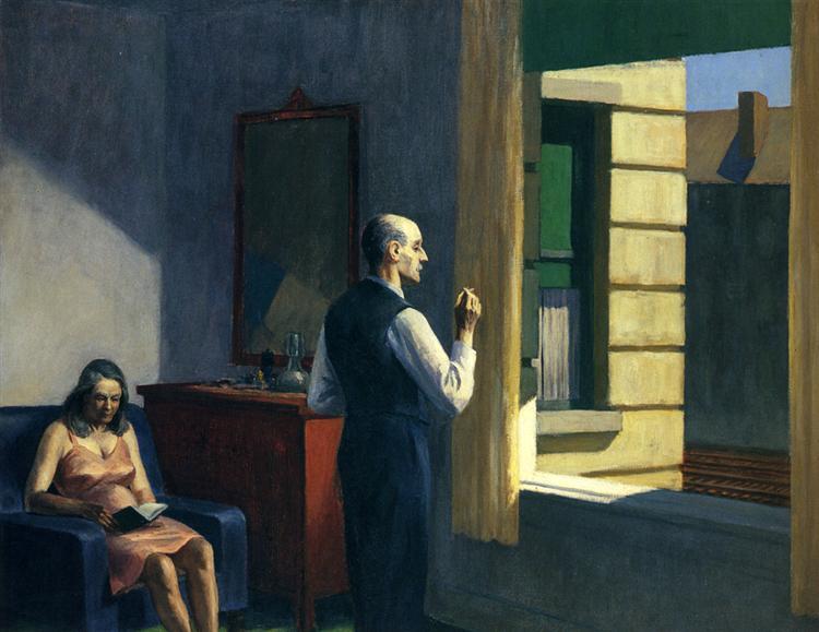 Edward Hopper, Hotel by Railroad, 1952. - icona