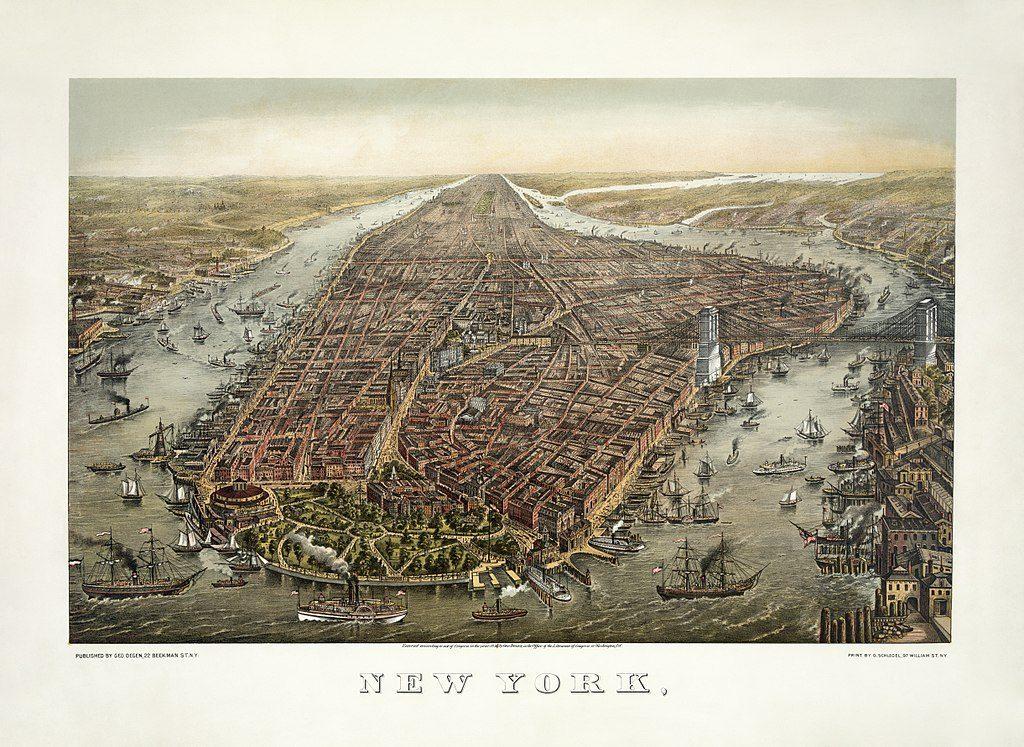 L'Isola di Manhattan nel 1873