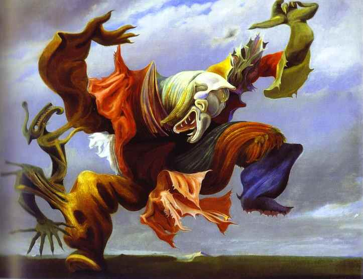 Max Ernst, L'angelo del focolare, 1937. - icona