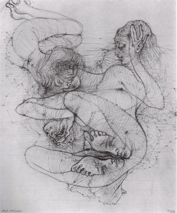 """Hans Bellmer, illustrazione da """"Anatomia dell'Immagine"""", 1957. - icona"""