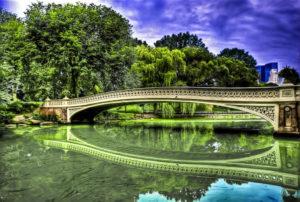 Bow Bridge in Central Park Manhattan