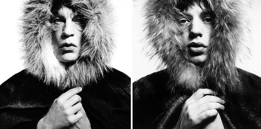"©Sandro Miller, David Bailey - Mick Jagger ""Fur Hood"" (1964), 2014. - icona"