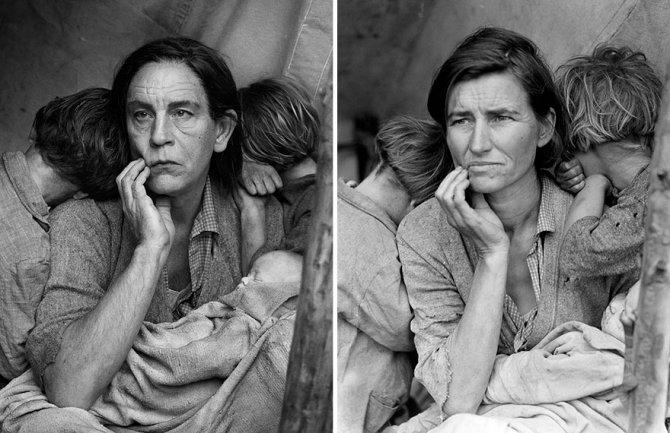 ©Sandro Miller, Dorothea Lange - Migrant Mother, Nipomo, California (1936), 2014. - icona