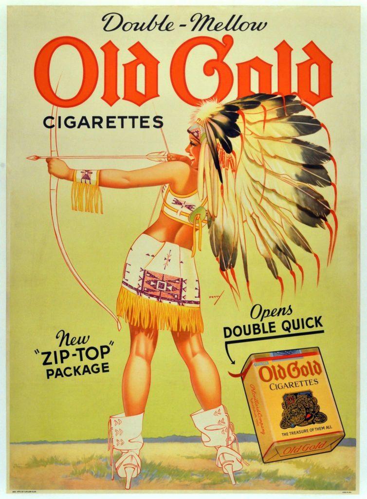 sigarette Old Gold - Locandina