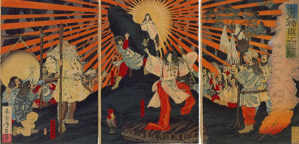 culto del sole - Rappresentazione di Amaterasu, dea del sole nella cultura nipponica