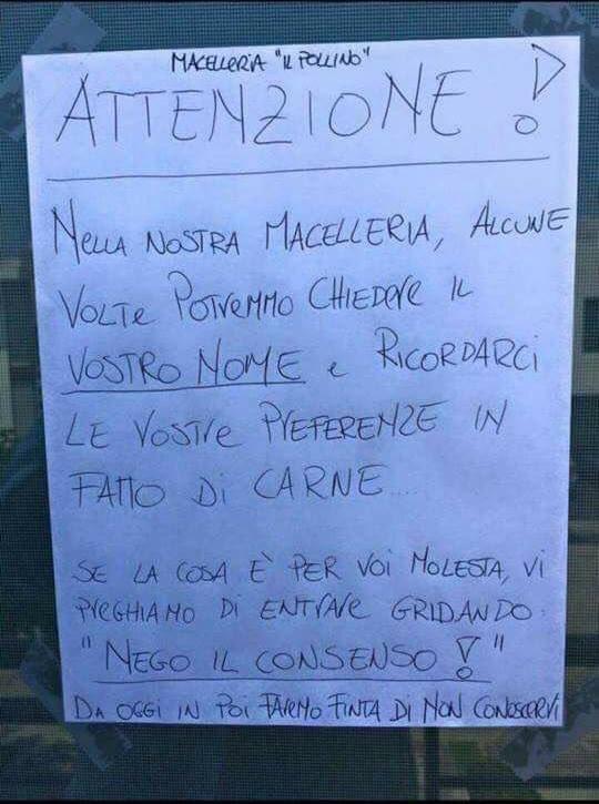 GDPR in macelleria