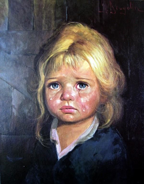 """ALT=""""horror il bambino che piange"""""""