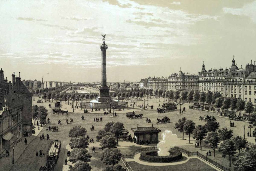 Luoghi: Place de la Bastille 1878