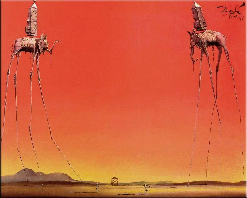 "surrealismo - ""Gli elefanti"""