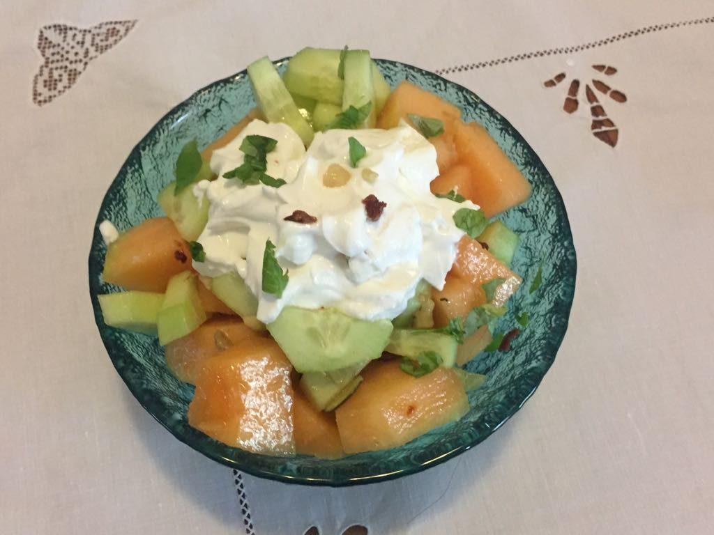 Presentazione dell' Insalata di melone e yogurt