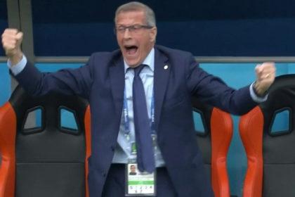 Mondiali - L'esultanza di Tabarez