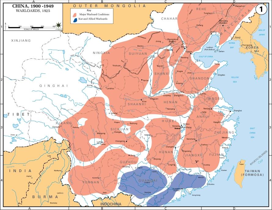 Rivoluzione cinese: la nascita della Repubblica Popolare - Periodo dei signori della guerra