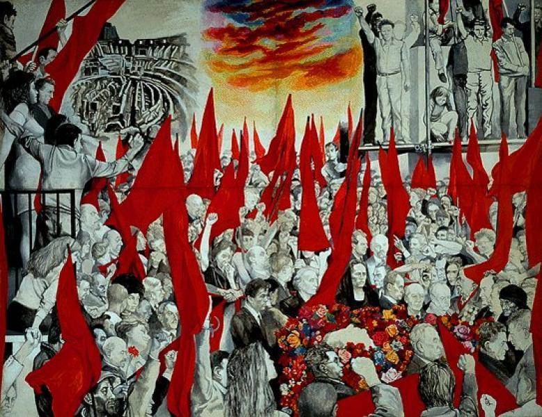 Guttuso - I funerali di Togliatti