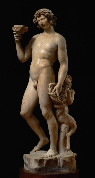 Bacco (1496-1497, Michelangelo, Museo nazionale del Bargello).