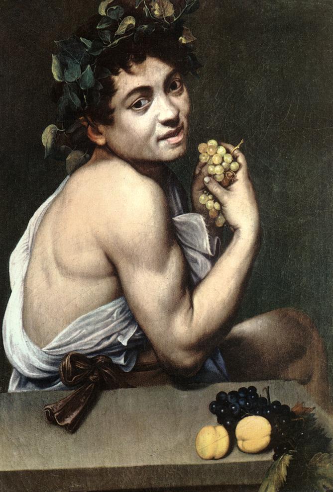 """""""Bacchino malato"""" 1593-1594, Caravaggio, Galleria Borghese)."""